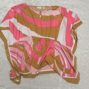 Pink and Brown New York & Company Blouse